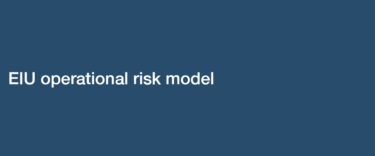 EIU Operational Risk Model
